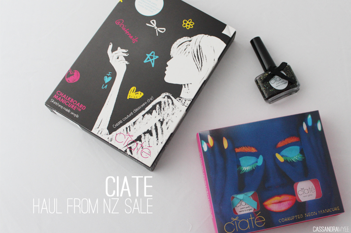 CIATÉ // Haul from NZ Sale [Chalkboard + Corrupted Neon Manicure Sets] - cassandramyee