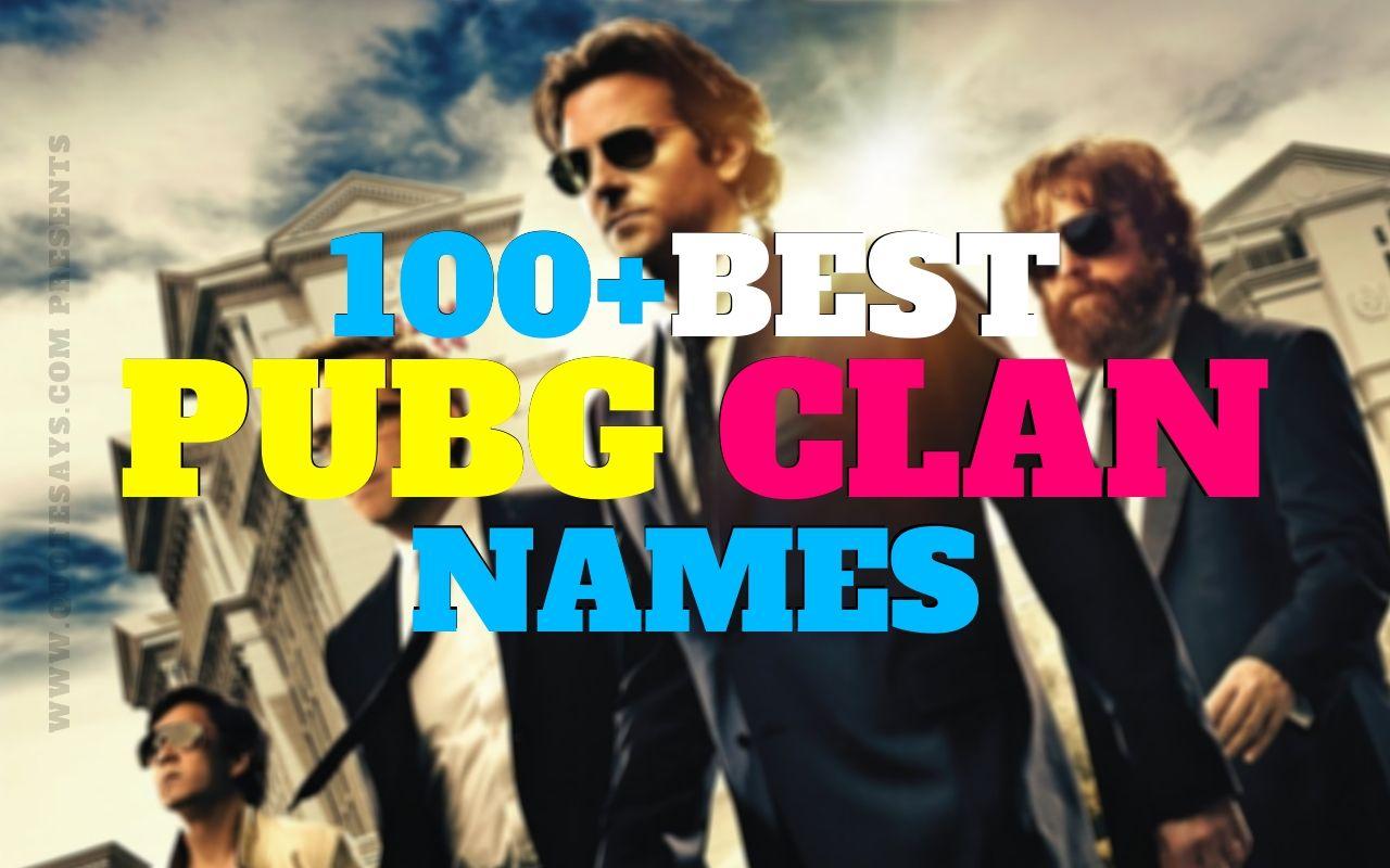 Pubg Clan Names, Pubg Clan Name Suggestions