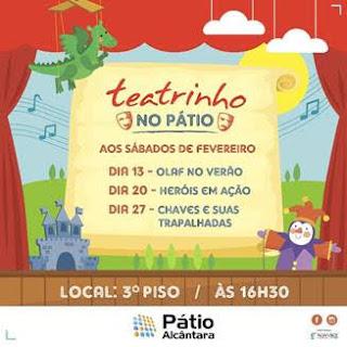 Pátio Alcântara apresenta a peça infantil 'Olaf no Verão'