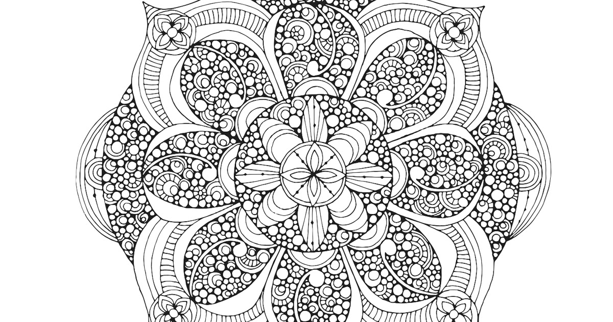 HD Adult Coloring Pages Medium Free - Free Coloring Book ...