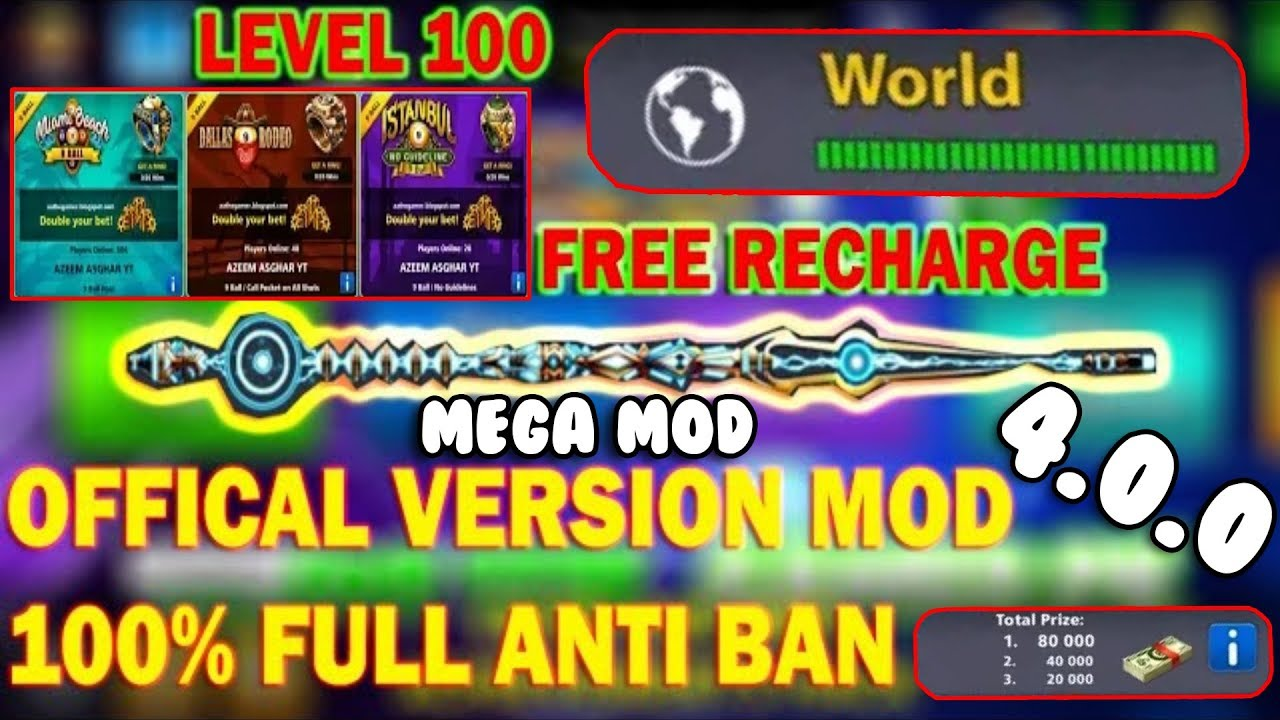 8 Ball Pool 4 0 0 Version Mega Mod Unlimited Cash Cue Force