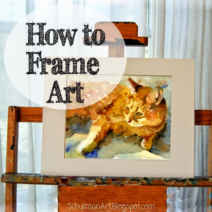how to frame a picture | how to mat a picture | wall decor | wall art decor | discover how to turn paintings into framed art at http://schulmanart.blogspot.com/2014/08/how-to-frame-your-art.html