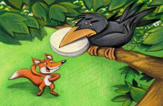 Cuento sobre el cuervo y la zorra