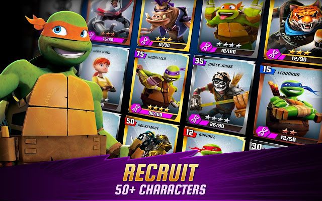 HACK NINJA TURTLES: LEGENDS FULL TIỀN, GEMS, ITEM