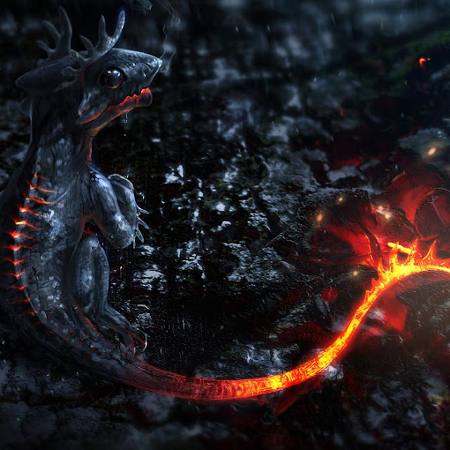 Ember Dragon Wallpaper Engine