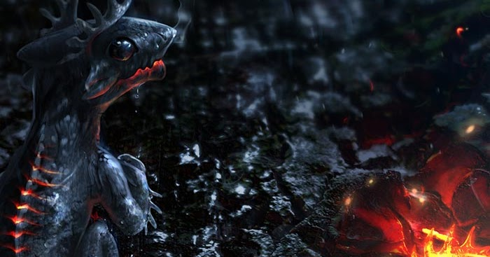 Dragon Engine Ring Scene Menu: Ember Dragon Wallpaper Engine