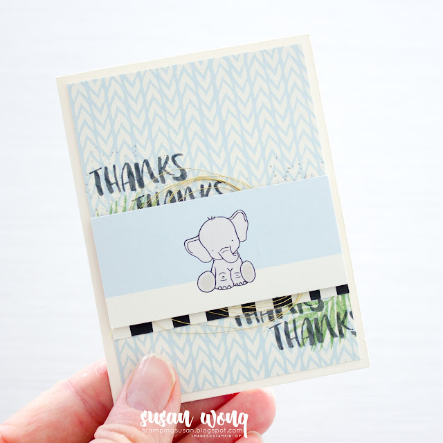 Baby Shower Invites, Album and Thank Yous with Stampin' Up! Bundle of Love and Fabulous Flamingo - Susan Wong for Scrapbook and Cards Today