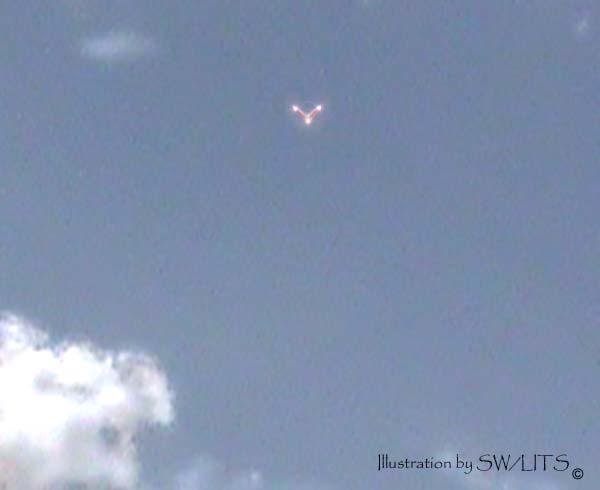 Ufos Lights In The Texas Sky Mailbag V Shaped Ufo Over