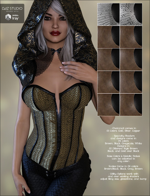 Fantasy Leather Iray Shaders