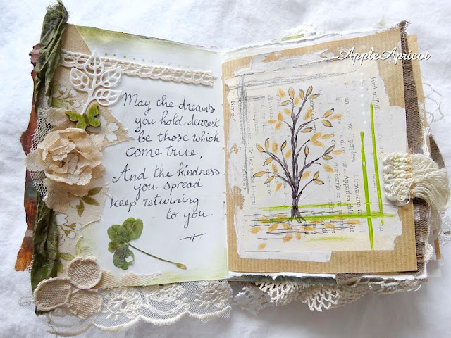 Forest journal - mixed media book by AppleApricot