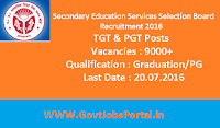 Secondary Education Services Selection Board Recruitment 2016
