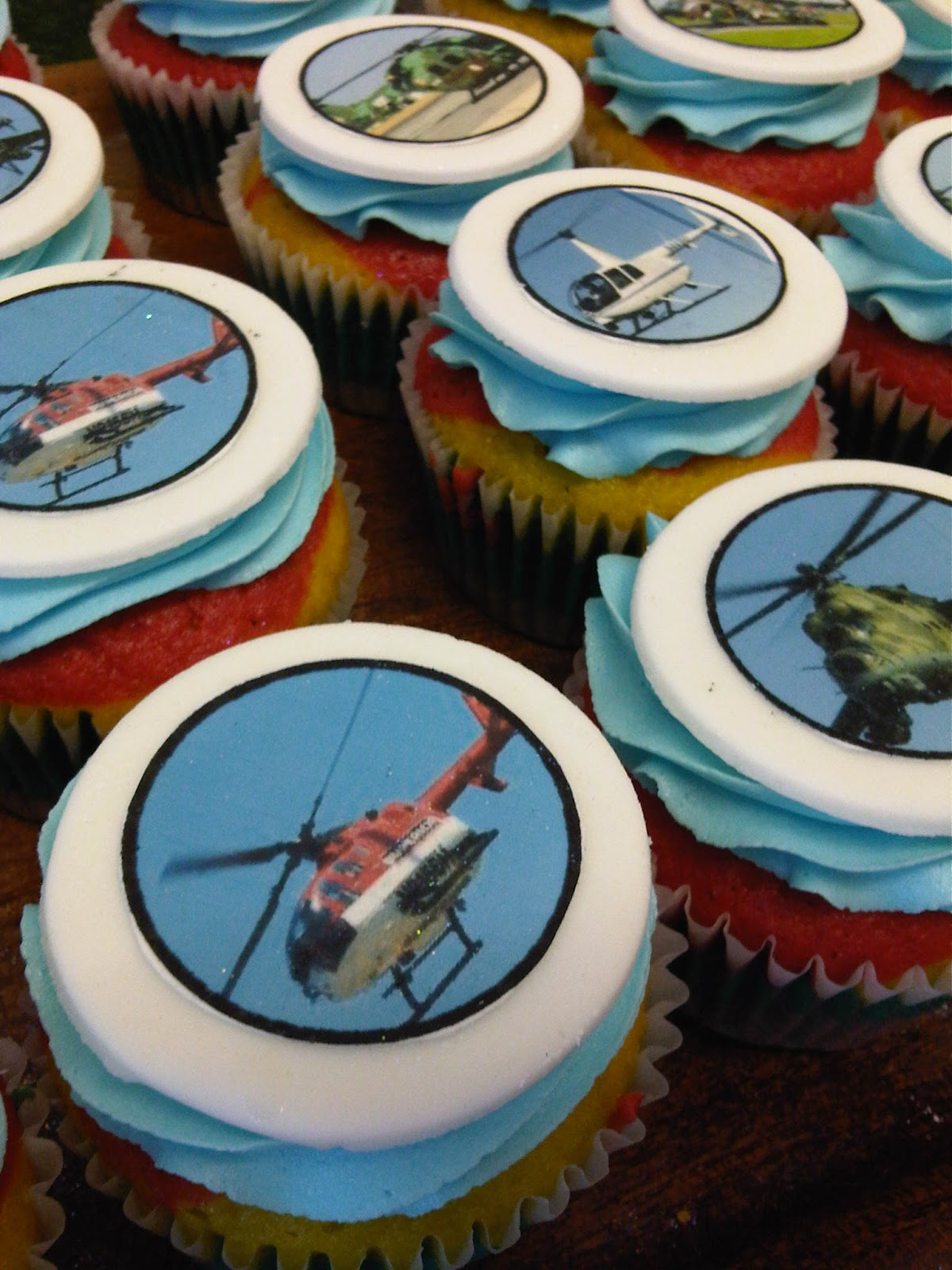 Welcome To Just Iced Helicopter Cupcakes