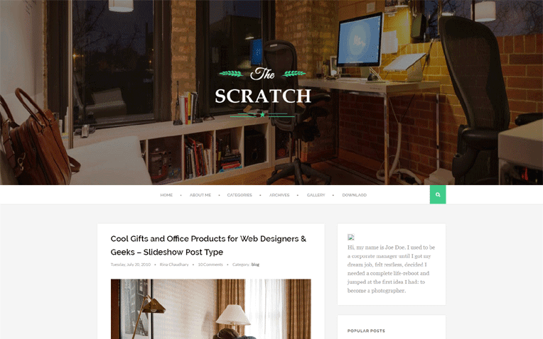 Scratch Free Blogger Template
