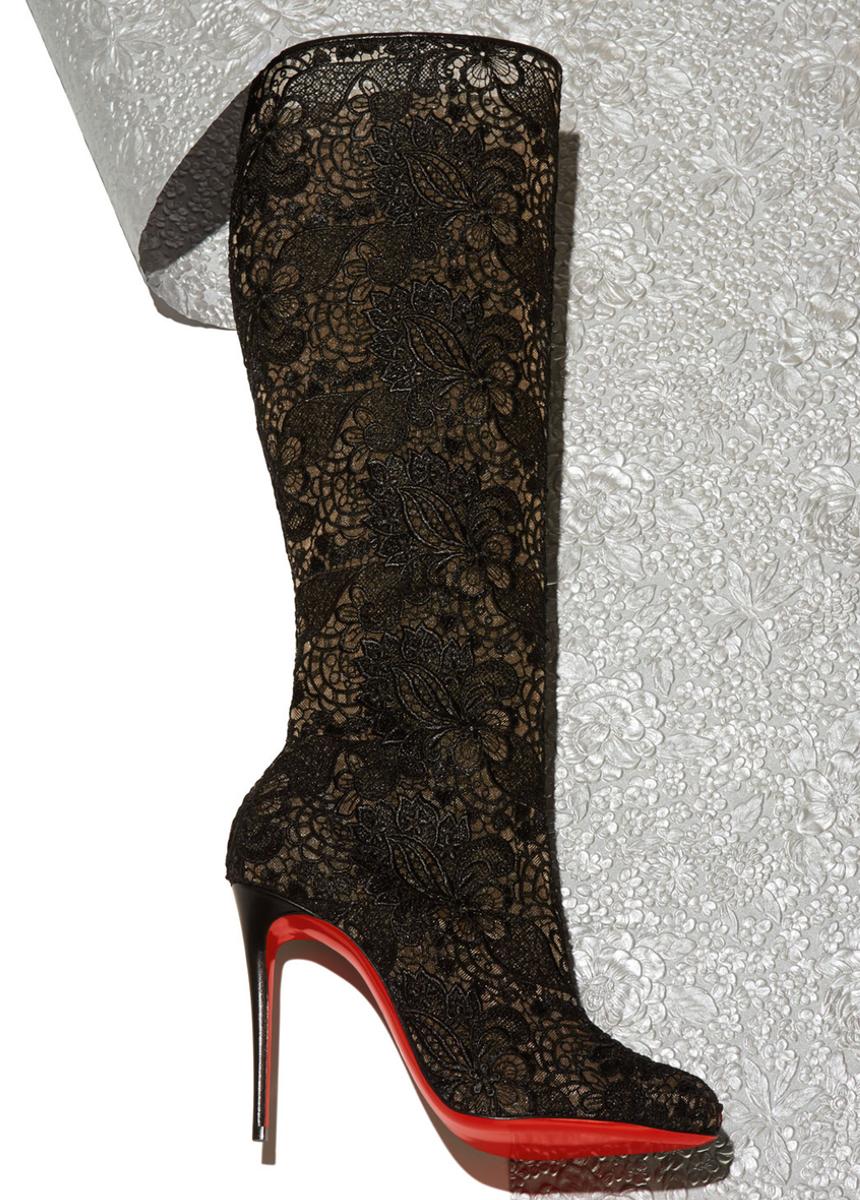76655eedd60b Christian Louboutin Tennissima Net Lace Red Sole Boot