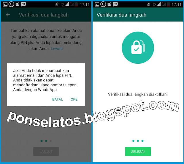 Verifikasi dua langkah, Verifikasi 2 langkah whatsapp, cara aktifkan Verifikasi 2 langkah whatsapp,
