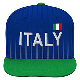 54a7418e4af Outerstuff World Cup Soccer Italy Boys Jersey Hook Flag Snapback with  Adjustable Snap Closure