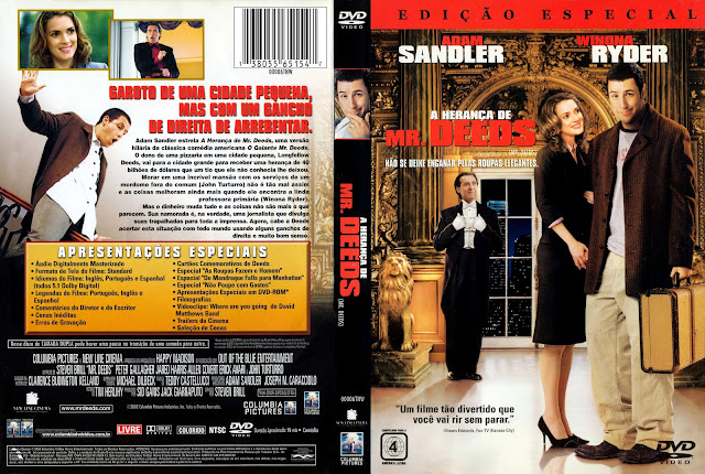 Capa DVD A Herança de Mr. Deeds