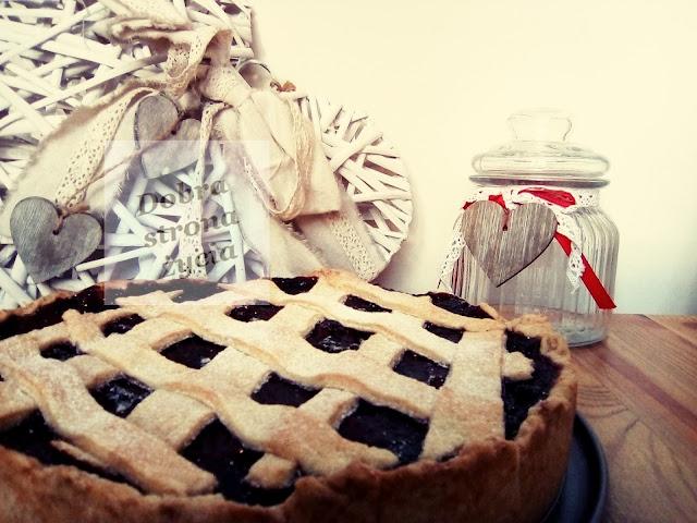 tarta z jabłkami i aronią, zdrowa, szybka, dla męża