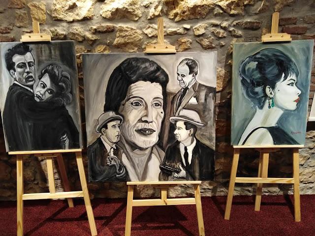 """Εκπληκτικά έργα της Ελισάβετ Πετροπούλου στην έκθεση  """"Σαν παλιό σινεμά"""" στο Άργος"""