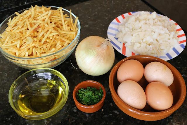 Ingredientes para bacalao dorado