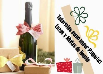 Tutoriales como hacer paquetes, lazos y moñas de regalo
