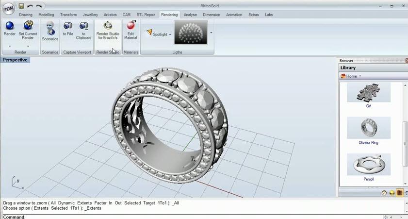Sample Render Studio Diamond Ring from RhinoGold | Drawing