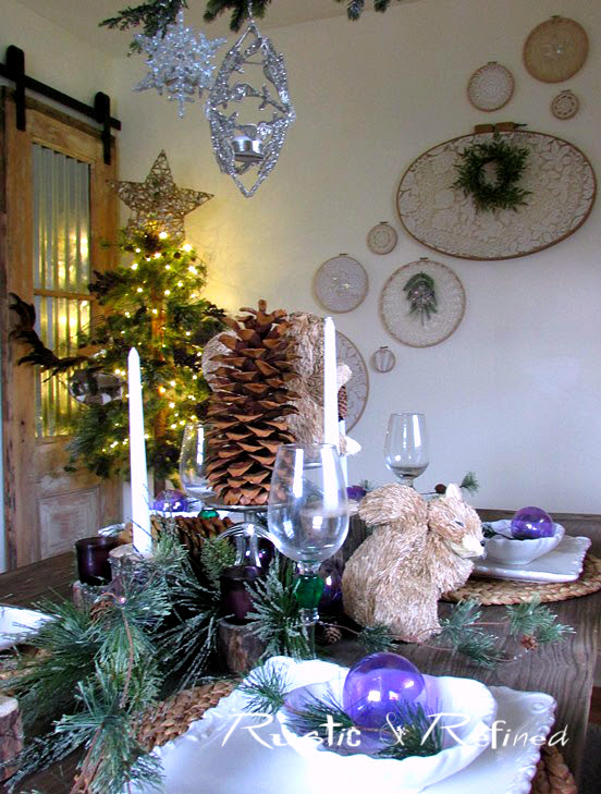 Holiday Entertaining with an elegant but simple tablescape idea