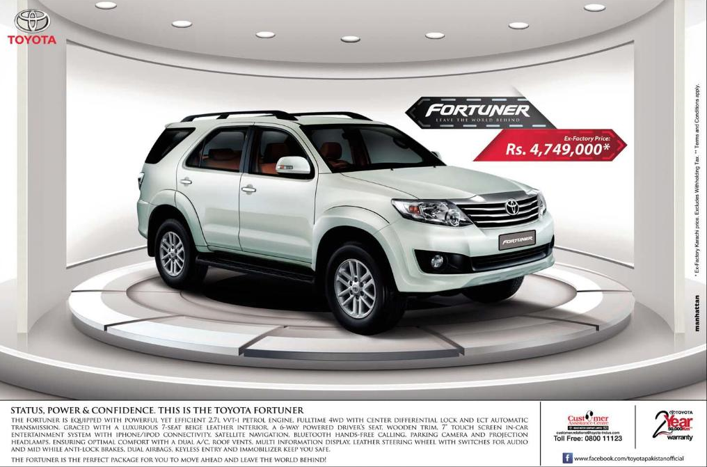 Toyota Fortuner Price In PKR