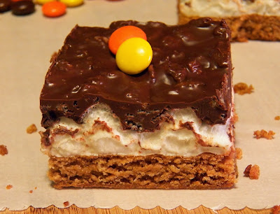 One Deluxe Peanut Butter Chocolate and Mallow Bars