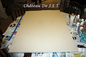 Ch 226 Teau De J E T Martha Stewart Stencil On Canvas