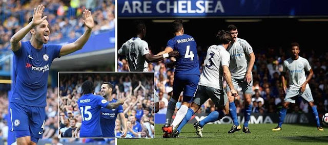 Chelsea 2-0 Everton Highlights (Fabregas and Morata on target for Chelsea in impressive first half)