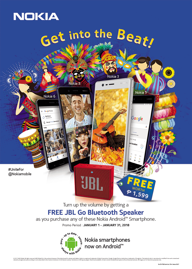 Nokia extends the FREE JBL GO promo until January 31!