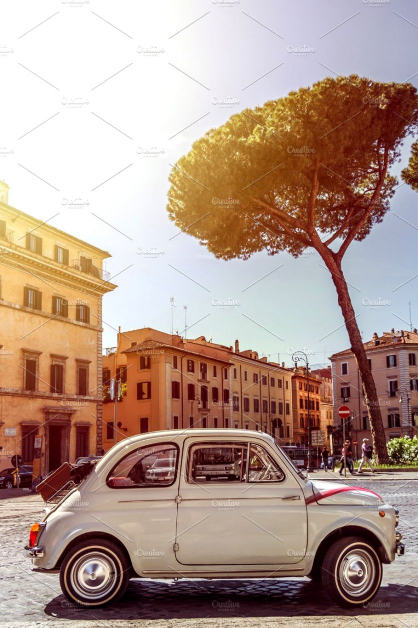 small resolution of small old white fiat 500 photos creative market