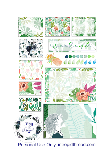 Free Planner Stickers for the Quilter's Planner