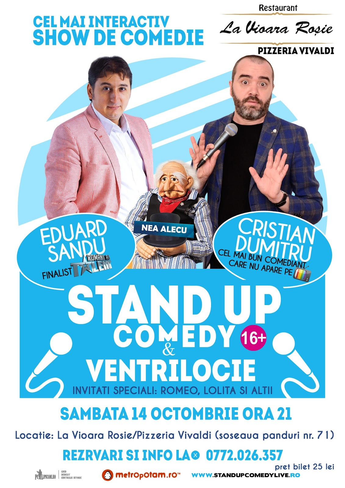 Stand-Up Comedy Sambata 14 octombrie Bucuresti
