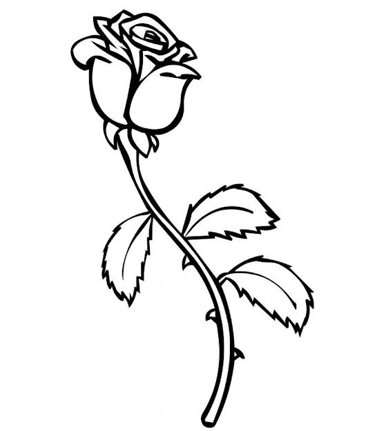 Rose Coloring Pages For Kids