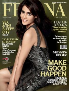 Genelia D'souza graces the cover of Femina July 2013 issue