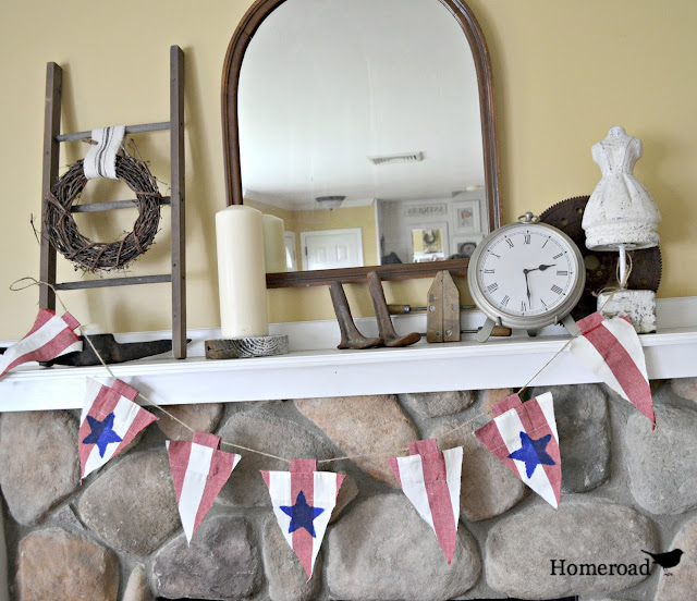 DIY No Sew Patriotic Pennants