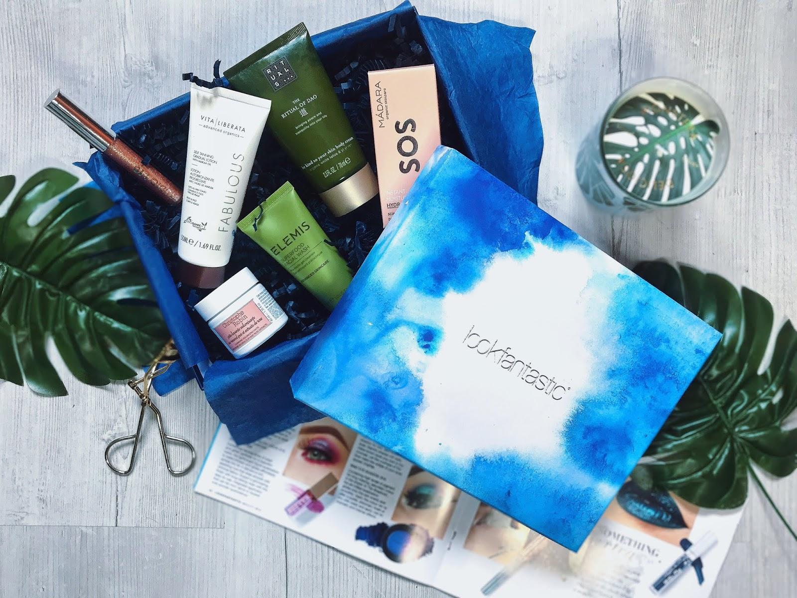 look fantastic beauty box june 2018 into the blue whats inside review