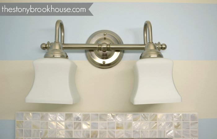 Powder room light fixture