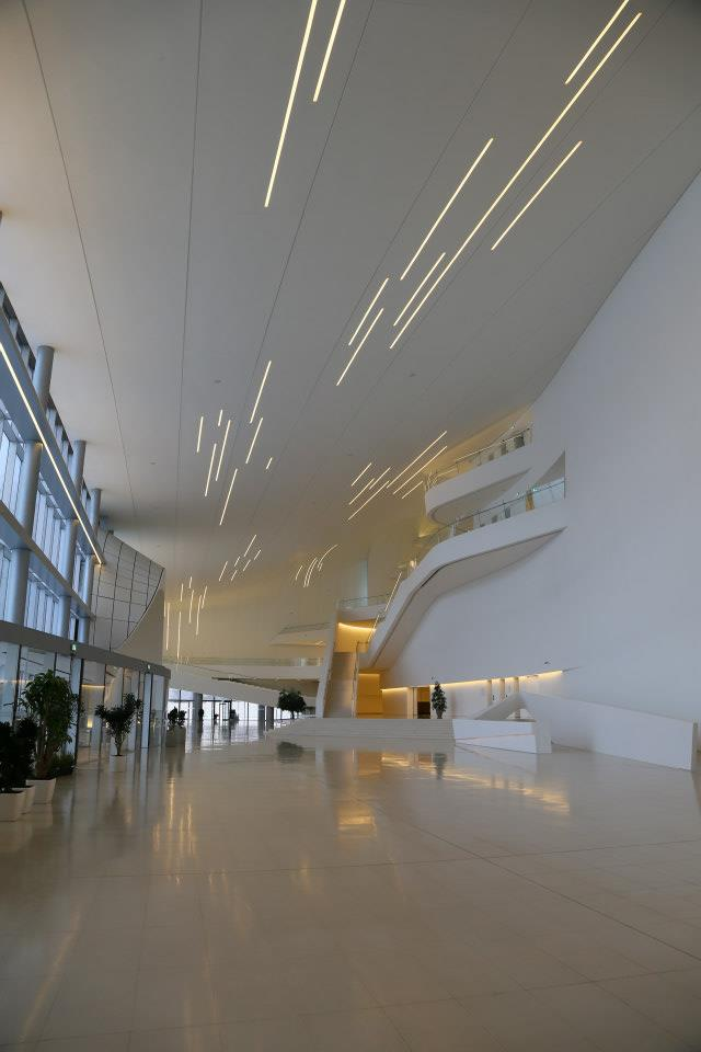 Lobby of Heydar Aliyev Cultural Center by Zaha Hadid Architects