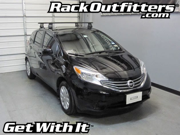 NEW Nissan Versa Note Thule Rapid Traverse BLACK AeroBlade ...