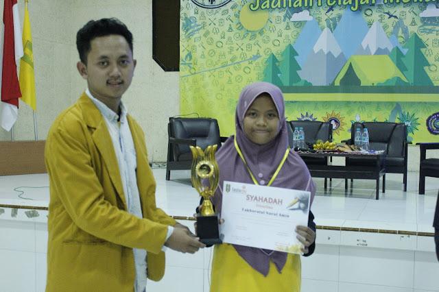 Fakhrotul Nurul Amin Pemenang Juara Harapan II Literasi