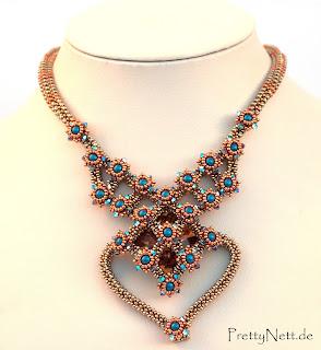 "Beaded necklace ""Lady Malvasia"" - Design by PrettyNett.de"