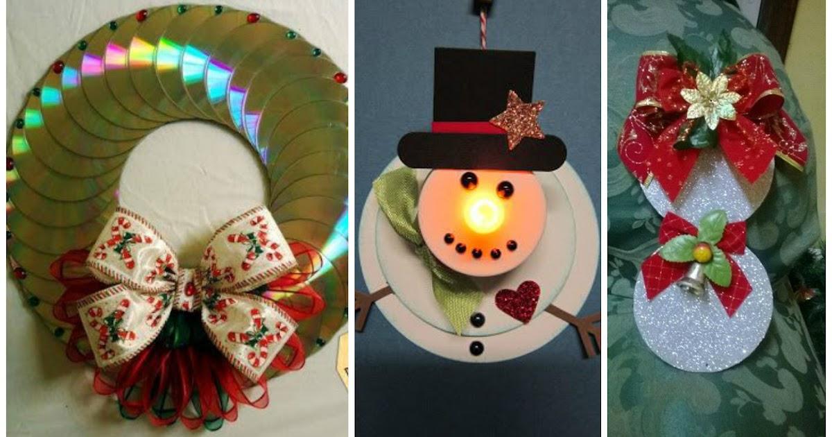 11 adornos navide os reciclando discos de cds que no - Como hacer motivos navidenos ...