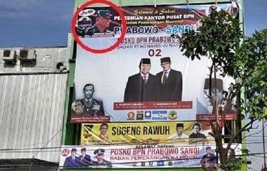Marahnya Jenderal Gatot, Foto Dicatut Tim Sukses Prabowo-Sandi