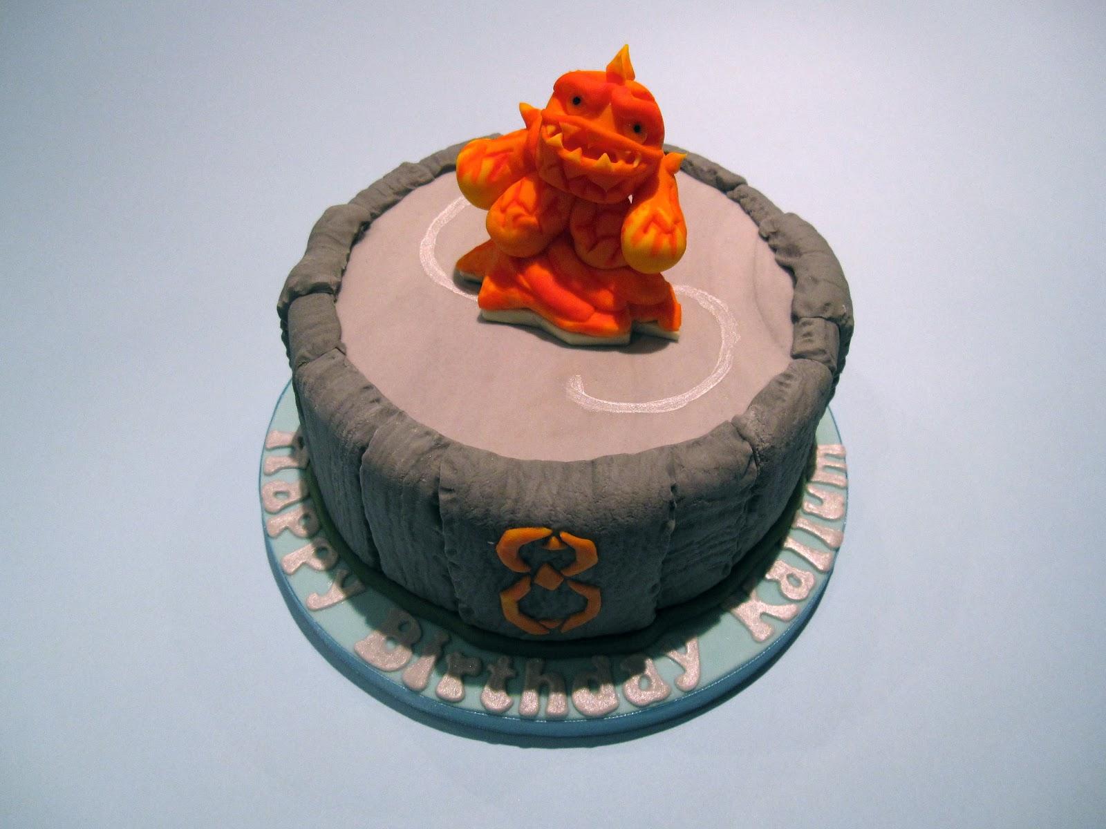 How To Make A Skylanders Portal Birthday Cake