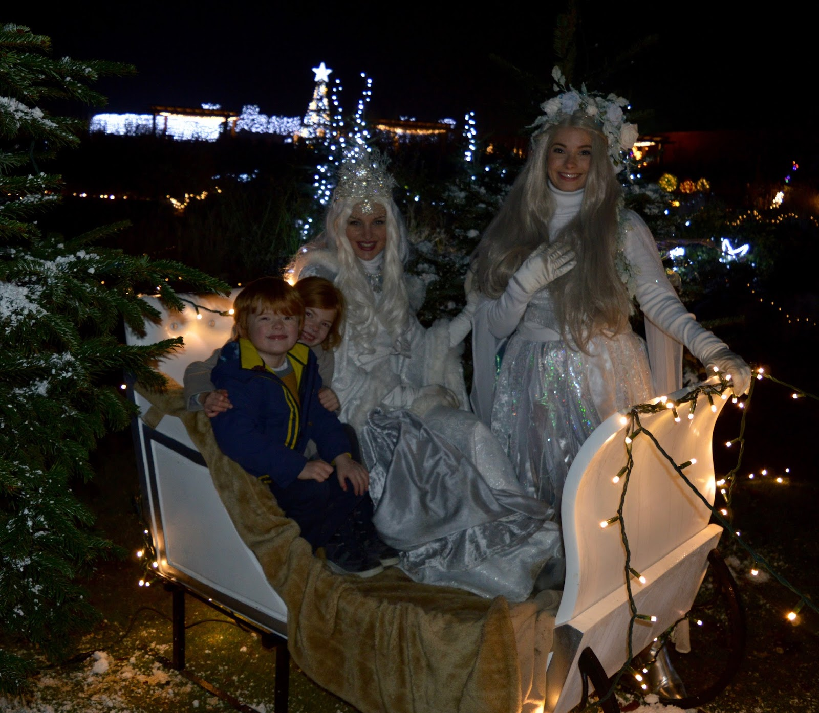 Winter Wonderland Christmas Light Show | A Wynyard Hall Garden Event - A Review - Meeting the Winter Fairy and Ice Queen in their sleigh