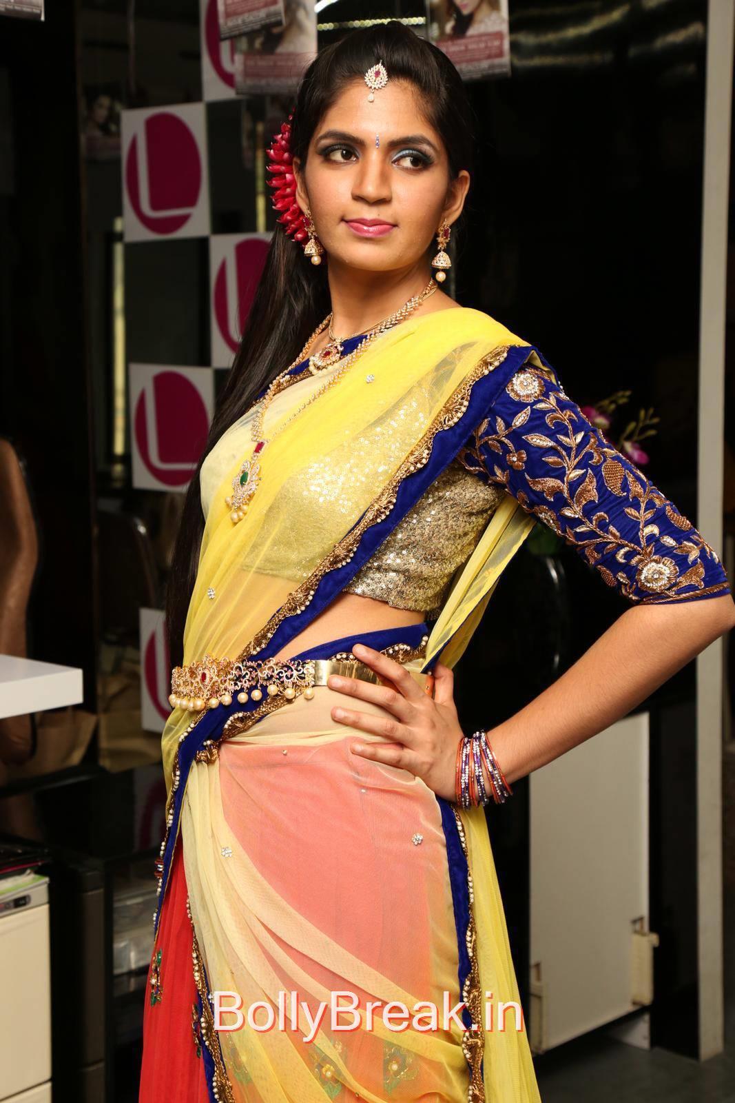 Anusha Photo Gallery, Anusha Hot Pics from Bridal Dream Make up At Lakme Salon