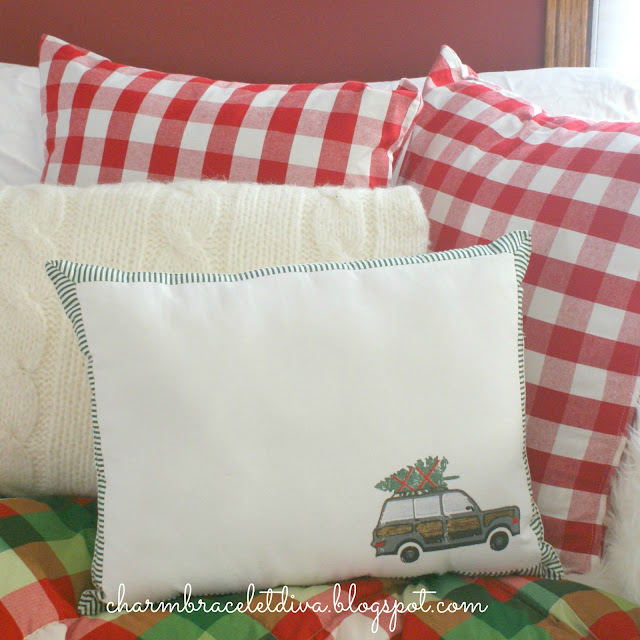 woody wagon pillow DIY placemat